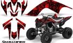 YAMAHA Raptor 700 CreatorX Graphics Kit Skullcified Red BB 150x90 - Yamaha Raptor 700 2006-2012 Graphics