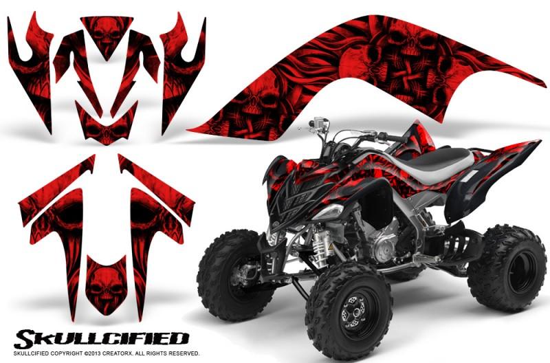 YAMAHA-Raptor-700-CreatorX-Graphics-Kit-Skullcified-Red-BB