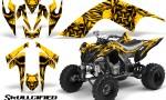 YAMAHA Raptor 700 CreatorX Graphics Kit Skullcified Yellow 150x90 - Yamaha Raptor 700 2006-2012 Graphics