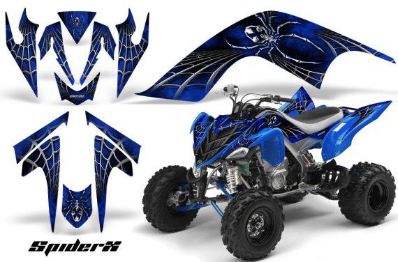 YAMAHA Raptor 700 CreatorX Graphics Kit SpiderX Blue 570x376 - Yamaha Raptor 700 2006-2012 Graphics