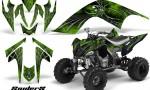 YAMAHA Raptor 700 CreatorX Graphics Kit SpiderX Green 150x90 - Yamaha Raptor 700 2006-2012 Graphics