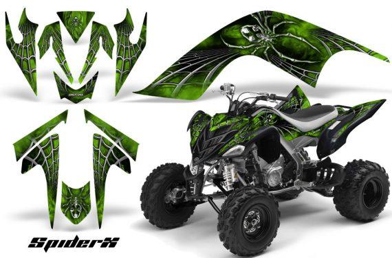 YAMAHA Raptor 700 CreatorX Graphics Kit SpiderX Green 570x376 - Yamaha Raptor 700 2006-2012 Graphics