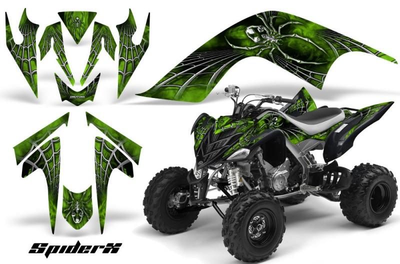 YAMAHA-Raptor-700-CreatorX-Graphics-Kit-SpiderX-Green