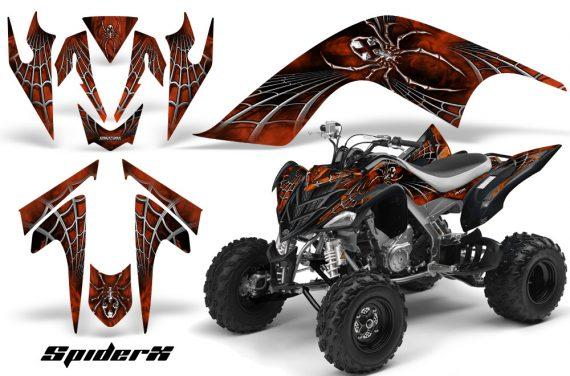 YAMAHA Raptor 700 CreatorX Graphics Kit SpiderX Orange 570x376 - Yamaha Raptor 700 2006-2012 Graphics