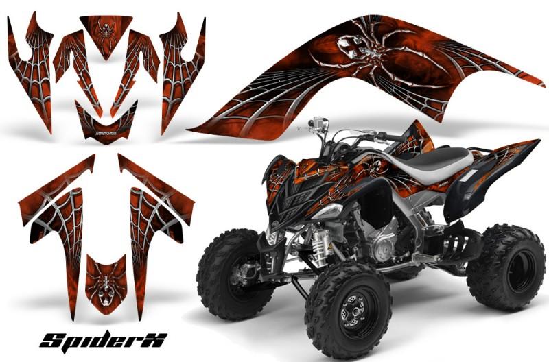YAMAHA-Raptor-700-CreatorX-Graphics-Kit-SpiderX-Orange