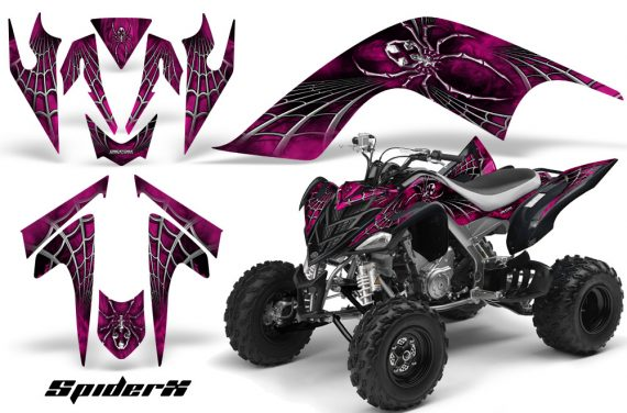 YAMAHA Raptor 700 CreatorX Graphics Kit SpiderX Pink 570x376 - Yamaha Raptor 700 2006-2012 Graphics