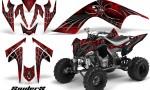 YAMAHA Raptor 700 CreatorX Graphics Kit SpiderX Red BB 150x90 - Yamaha Raptor 700 2006-2012 Graphics