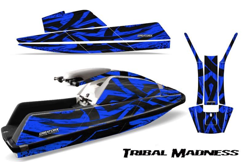 YAMAHA-SuperJet-Square-Nose-CreatorX-Graphics-Kit-Tribal-Madness-Blue
