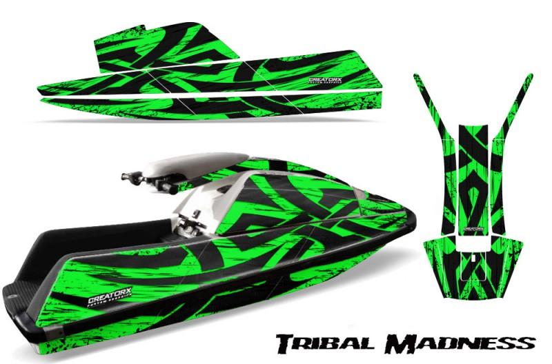 YAMAHA-SuperJet-Square-Nose-CreatorX-Graphics-Kit-Tribal-Madness-Green