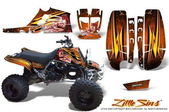 Yamaha Banshee Full Bore CreatorX Graphic Kit Little Sins Orange 570x376 - Yamaha Banshee 350 Graphics for Full Bore Plastics