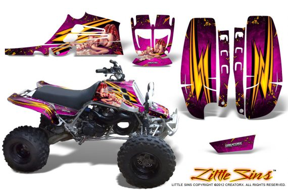 Yamaha Banshee Full Bore CreatorX Graphic Kit Little Sins Pink 570x376 - Yamaha Banshee 350 Graphics for Full Bore Plastics