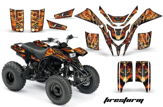 Yamaha Blaster AMR Graphics Kit Firestorm Black 570x376 - Yamaha Blaster 200 YFS200 Graphics