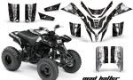Yamaha Blaster AMR Graphics Kit MadHatter BlackWhitestripe 150x90 - Yamaha Blaster 200 YFS200 Graphics
