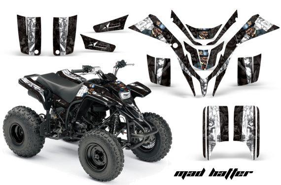 Yamaha Blaster AMR Graphics Kit MadHatter BlackWhitestripe 570x376 - Yamaha Blaster 200 YFS200 Graphics