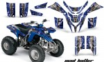 Yamaha Blaster AMR Graphics Kit MadHatter BlueSilverstripe 150x90 - Yamaha Blaster 200 YFS200 Graphics