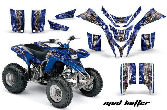Yamaha Blaster AMR Graphics Kit MadHatter BlueSilverstripe 570x376 - Yamaha Blaster 200 YFS200 Graphics