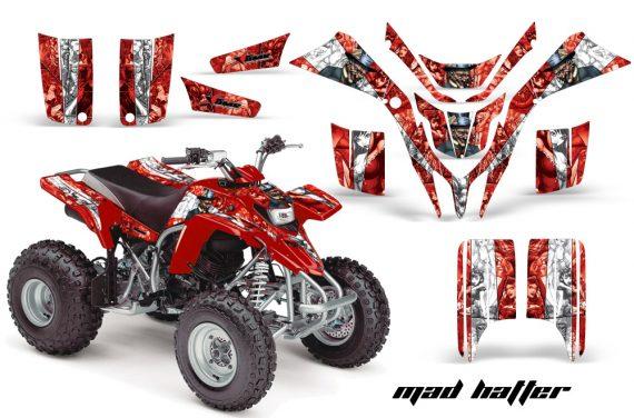 Yamaha Blaster AMR Graphics Kit MadHatter RedWhitestripe 570x376 - Yamaha Blaster 200 YFS200 Graphics