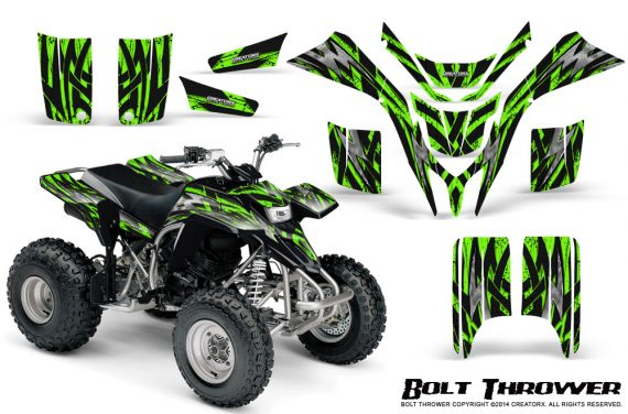 Yamaha Blaster CreatorX Graphics Kit Bolt Thrower Green 570x376 - Yamaha Blaster 200 YFS200 Graphics