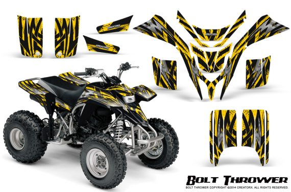 Yamaha Blaster CreatorX Graphics Kit Bolt Thrower Yellow 570x376 - Yamaha Blaster 200 YFS200 Graphics