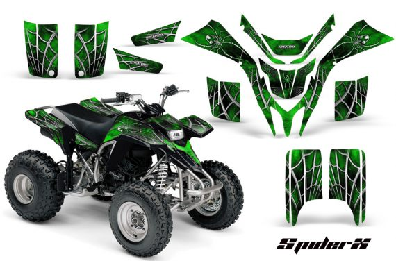 Yamaha Blaster CreatorX Graphics Kit SpiderX Green 570x376 - Yamaha Blaster 200 YFS200 Graphics