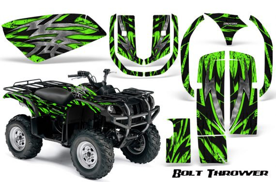 Yamaha Grizzly 660 CreatorX Graphics Kit Bolt Thrower Green 570x376 - Yamaha Grizzly 660 Graphics