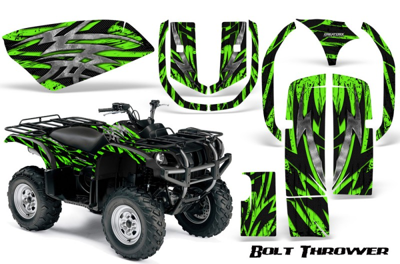Yamaha-Grizzly-660-CreatorX-Graphics-Kit-Bolt-Thrower-Green
