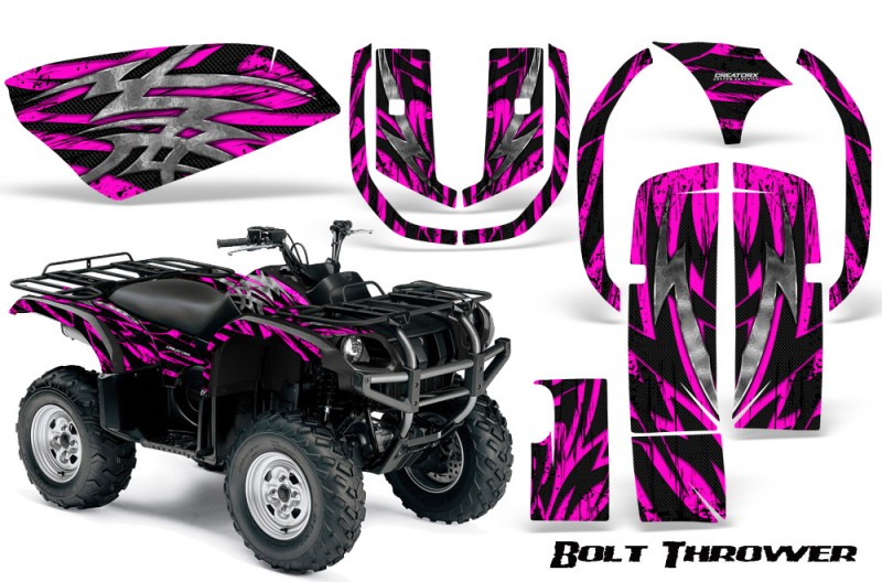 Yamaha-Grizzly-660-CreatorX-Graphics-Kit-Bolt-Thrower-Pink