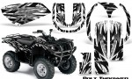 Yamaha Grizzly 660 CreatorX Graphics Kit Bolt Thrower White 150x90 - Yamaha Grizzly 660 Graphics