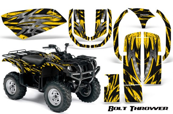 Yamaha Grizzly 660 CreatorX Graphics Kit Bolt Thrower Yellow 570x376 - Yamaha Grizzly 660 Graphics