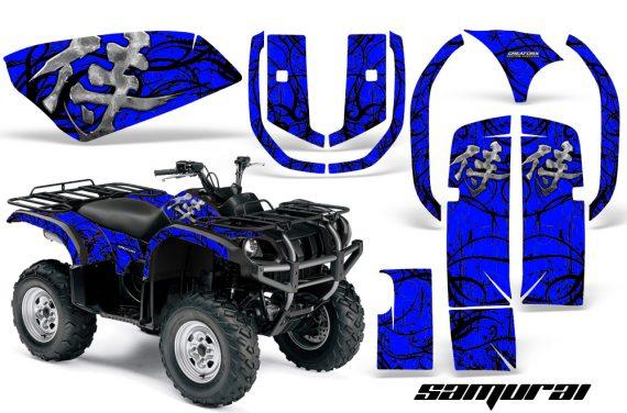Yamaha Grizzly 660 CreatorX Graphics Kit Samurai Black Blue 570x376 - Yamaha Grizzly 660 Graphics