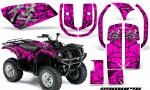 Yamaha Grizzly 660 CreatorX Graphics Kit Samurai Black Pink 150x90 - Yamaha Grizzly 660 Graphics