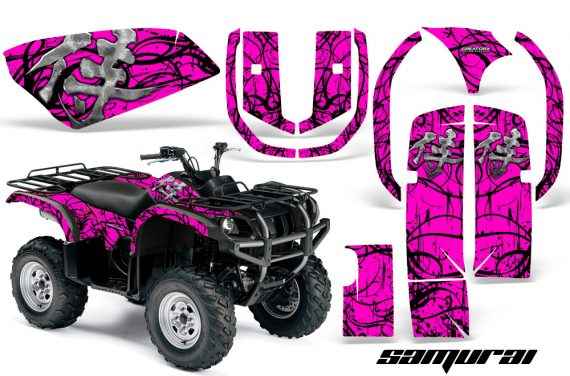 Yamaha Grizzly 660 CreatorX Graphics Kit Samurai Black Pink 570x376 - Yamaha Grizzly 660 Graphics