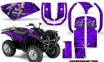 Yamaha Grizzly 660 CreatorX Graphics Kit Samurai Black Purple 150x90 - Yamaha Grizzly 660 Graphics