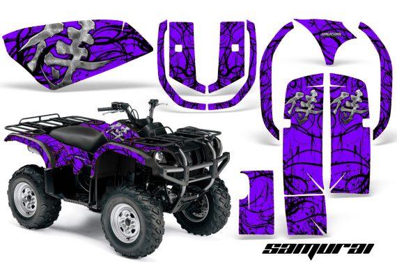Yamaha Grizzly 660 CreatorX Graphics Kit Samurai Black Purple 570x376 - Yamaha Grizzly 660 Graphics