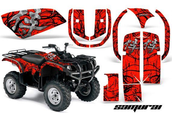 Yamaha Grizzly 660 CreatorX Graphics Kit Samurai Black Red 570x376 - Yamaha Grizzly 660 Graphics