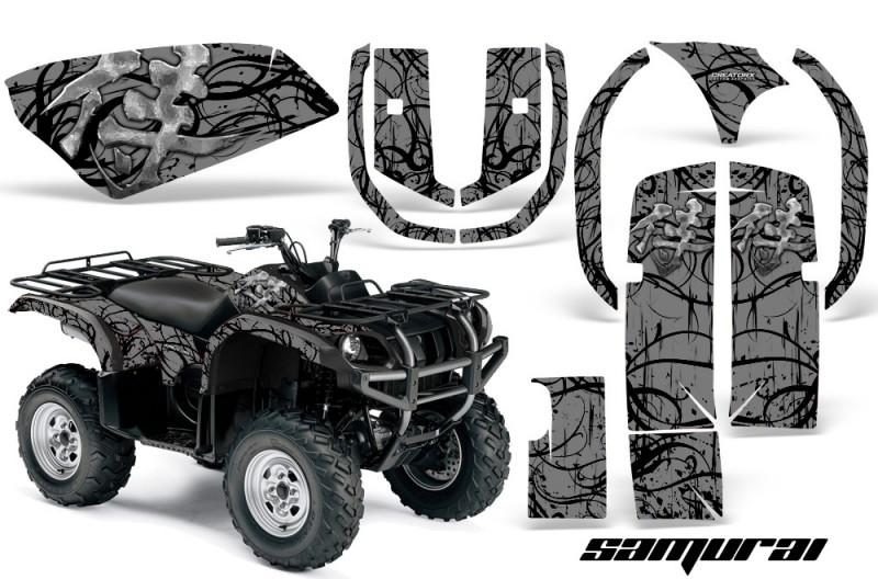 Yamaha-Grizzly-660-CreatorX-Graphics-Kit-Samurai-Black-Silver