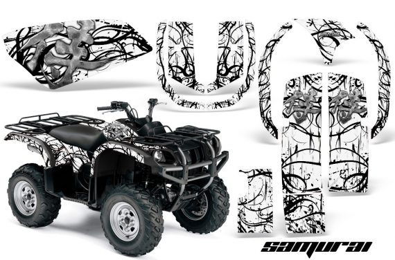 Yamaha Grizzly 660 CreatorX Graphics Kit Samurai Black White 570x376 - Yamaha Grizzly 660 Graphics