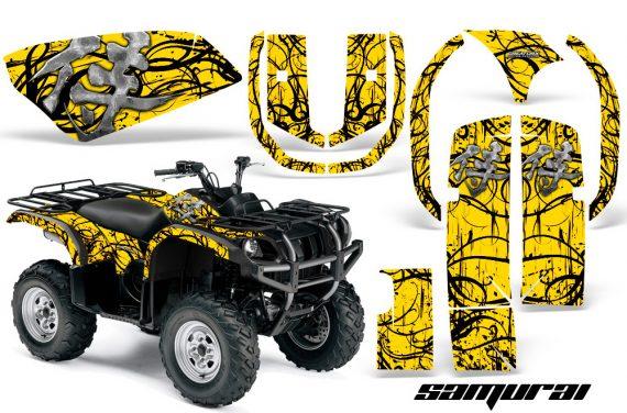 Yamaha Grizzly 660 CreatorX Graphics Kit Samurai Black Yellow 570x376 - Yamaha Grizzly 660 Graphics