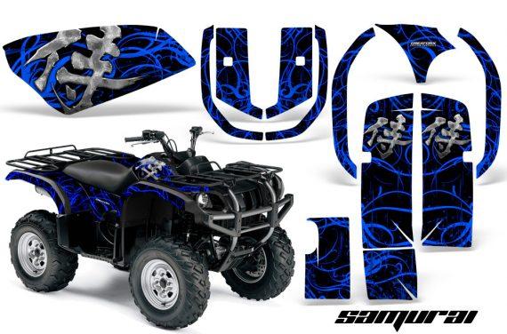 Yamaha Grizzly 660 CreatorX Graphics Kit Samurai Blue Black 570x376 - Yamaha Grizzly 660 Graphics