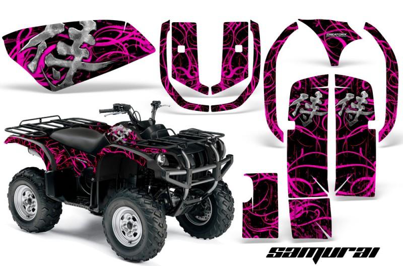 Yamaha-Grizzly-660-CreatorX-Graphics-Kit-Samurai-Pink-Black