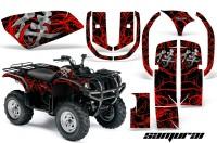 Yamaha-Grizzly-660-CreatorX-Graphics-Kit-Samurai-Red-Black