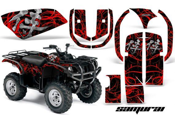 Yamaha Grizzly 660 CreatorX Graphics Kit Samurai Red Black 570x376 - Yamaha Grizzly 660 Graphics