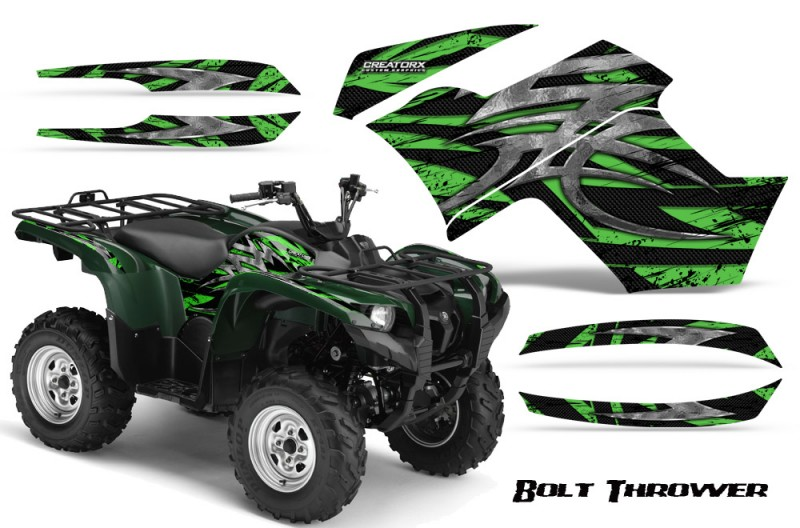 Yamaha-Grizzly-700-CreatorX-Graphics-Kit-Bolt-Thrower-Green