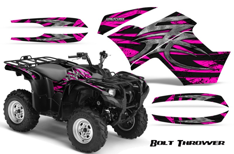 Yamaha-Grizzly-700-CreatorX-Graphics-Kit-Bolt-Thrower-Pink