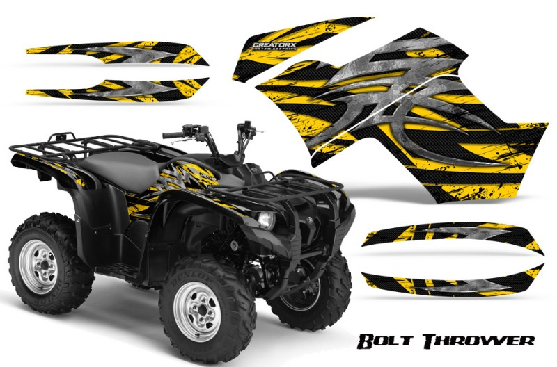 Yamaha-Grizzly-700-CreatorX-Graphics-Kit-Bolt-Thrower-Yellow