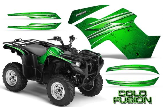 Yamaha Grizzly 700 CreatorX Graphics Kit Cold Fusion Green 570x376 - Yamaha Grizzly 700/550 Graphics