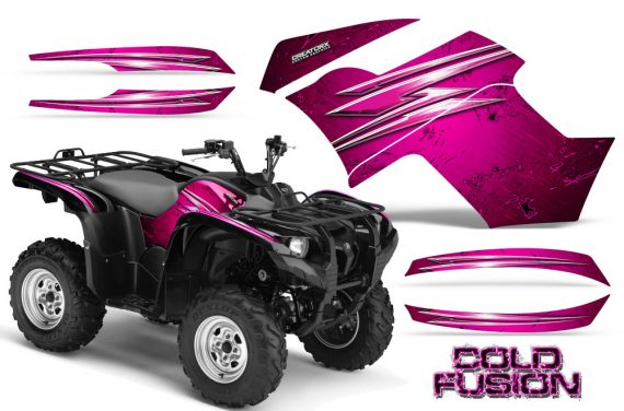 Yamaha Grizzly 700 CreatorX Graphics Kit Cold Fusion Pink 570x376 - Yamaha Grizzly 700/550 Graphics