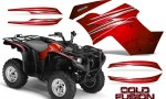 Yamaha Grizzly 700 CreatorX Graphics Kit Cold Fusion Red 150x90 - Yamaha Grizzly 700/550 Graphics