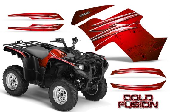 Yamaha Grizzly 700 CreatorX Graphics Kit Cold Fusion Red 570x376 - Yamaha Grizzly 700/550 Graphics