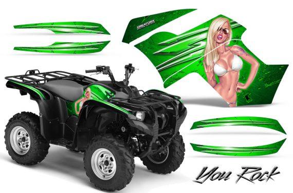 Yamaha Grizzly 700 CreatorX Graphics Kit You Rock Green 570x376 - Yamaha Grizzly 700/550 Graphics